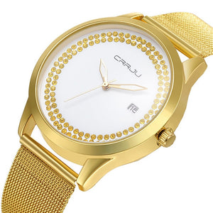 CRRJU Gardenia Watch - golden | HERS.BOUTIQUE