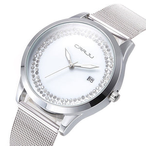 CRRJU Gardenia Watch - silver | HERS.BOUTIQUE