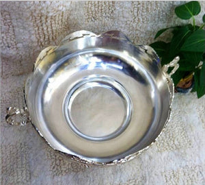 Silver finish metal  Bowl -  | HERS.BOUTIQUE