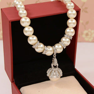 Lilybell Pearl Necklace - Silver | HERS.BOUTIQUE