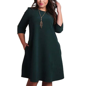 Casual Loose Dresses - Green / S | HERS.BOUTIQUE