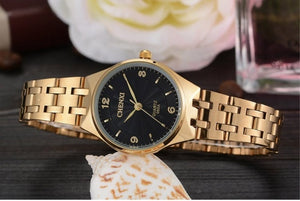 CHENXI Gold Watch - Black | HERS.BOUTIQUE