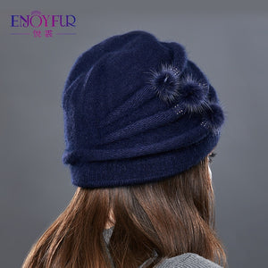 EnjoyFur Knitted Hat -  | HERS.BOUTIQUE