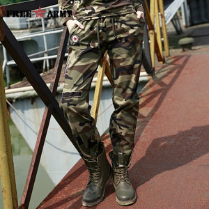 Army Camo Trouser - green camouflage / 26 | HERS.BOUTIQUE
