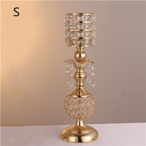 Crystal Candle Holders - S / Golden | HERS.BOUTIQUE