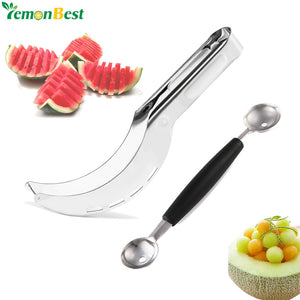 Stainless Steel Watermelon Slicer & Spoon -  | HERS.BOUTIQUE
