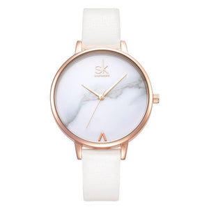 Shengke Watches Leather - white | HERS.BOUTIQUE