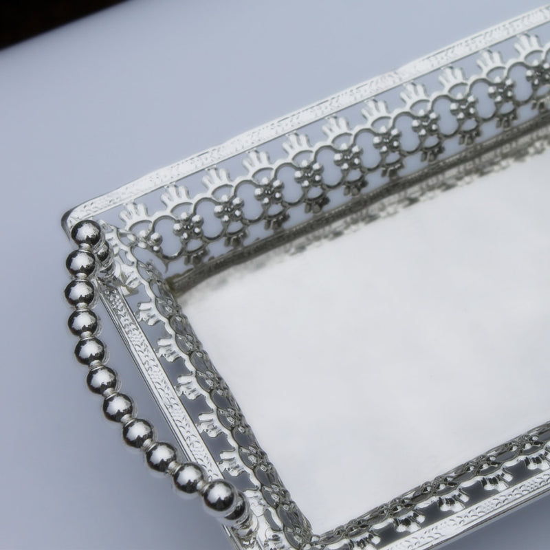 Silver Plated Decorative Tray -  | HERS.BOUTIQUE