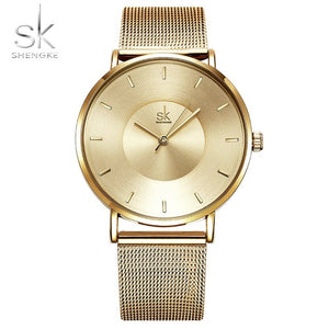 Shengke Watches - gold | HERS.BOUTIQUE
