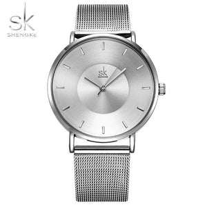Shengke Watches - sliver | HERS.BOUTIQUE