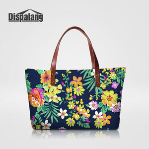 Dispalang Floral Tote bag - Brown / 49 x 11 x 29 cm | HERS.BOUTIQUE