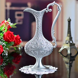 Pewter Plated Decorative Vase - Silver | HERS.BOUTIQUE