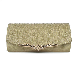 Sequined Evening Clutch - Gold | HERS.BOUTIQUE