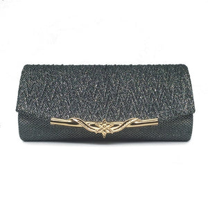 Sequined Evening Clutch - Gray | HERS.BOUTIQUE