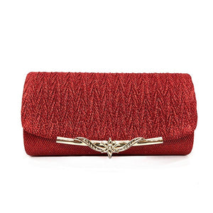 Sequined Evening Clutch - Red | HERS.BOUTIQUE