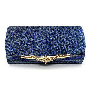 Sequined Evening Clutch - blue | HERS.BOUTIQUE