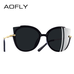 AOFLY Classic Cat Eye Sun Glasses - Gray | HERS.BOUTIQUE
