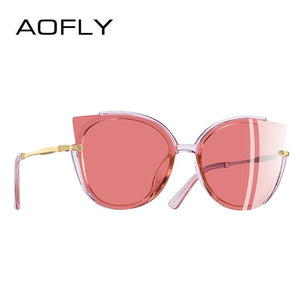 AOFLY Classic Cat Eye Sun Glasses - Pink | HERS.BOUTIQUE