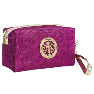 Women Cosmetic Travel Bag - Magenta | HERS.BOUTIQUE