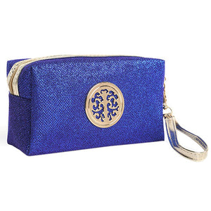 Women Cosmetic Travel Bag - Blue | HERS.BOUTIQUE