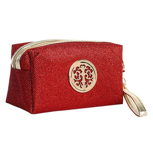 Women Cosmetic Travel Bag - Red | HERS.BOUTIQUE