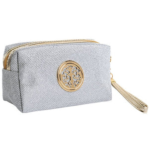 Women Cosmetic Travel Bag - Gray | HERS.BOUTIQUE