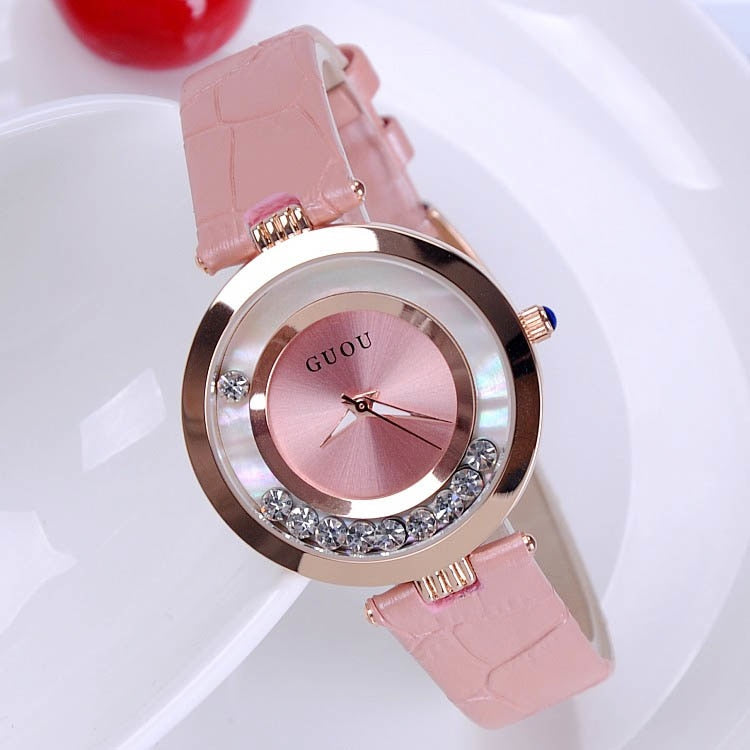 Guou Rhinestone Wrist watch -  | HERS.BOUTIQUE