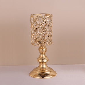 Crystals Candle Holders - M / Gold | HERS.BOUTIQUE