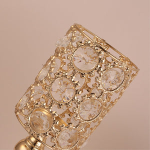 Crystals Candle Holders - S / Gold | HERS.BOUTIQUE