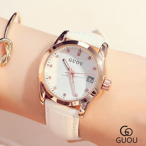 Guou Leather Strap - White | HERS.BOUTIQUE