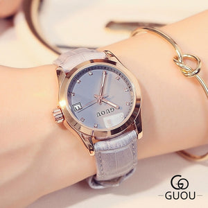 Guou Leather Strap - Grey | HERS.BOUTIQUE
