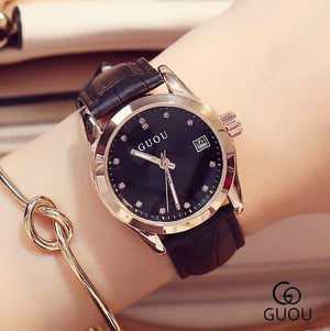 Guou Leather Strap - Black | HERS.BOUTIQUE
