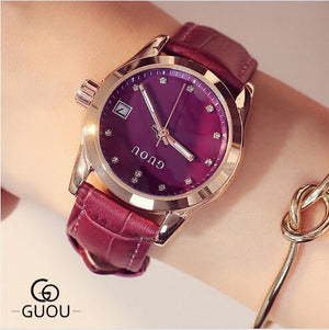 Guou Leather Strap - Purple | HERS.BOUTIQUE