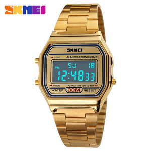 SKMEI Digital Dress Watches - Gold | HERS.BOUTIQUE