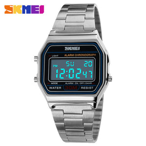 SKMEI Digital Dress Watches - Silver | HERS.BOUTIQUE