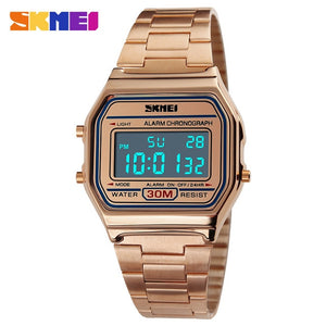 SKMEI Digital Dress Watches - Rose Gold | HERS.BOUTIQUE