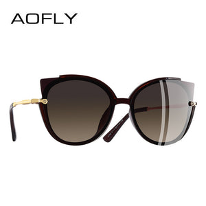 AOFLY Classic Cat Eye Sun Glasses - Brown | HERS.BOUTIQUE