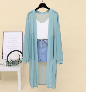 Sunscreen Cardigan - sky blue / One Size | HERS.BOUTIQUE