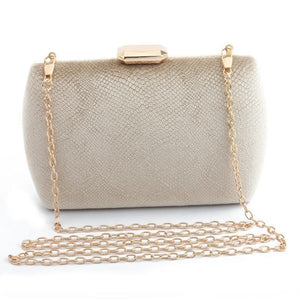Elegant Suede Party Clutch - gold | HERS.BOUTIQUE