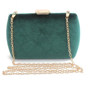 Elegant Suede Party Clutch - green | HERS.BOUTIQUE
