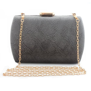 Elegant Suede Party Clutch - grey | HERS.BOUTIQUE