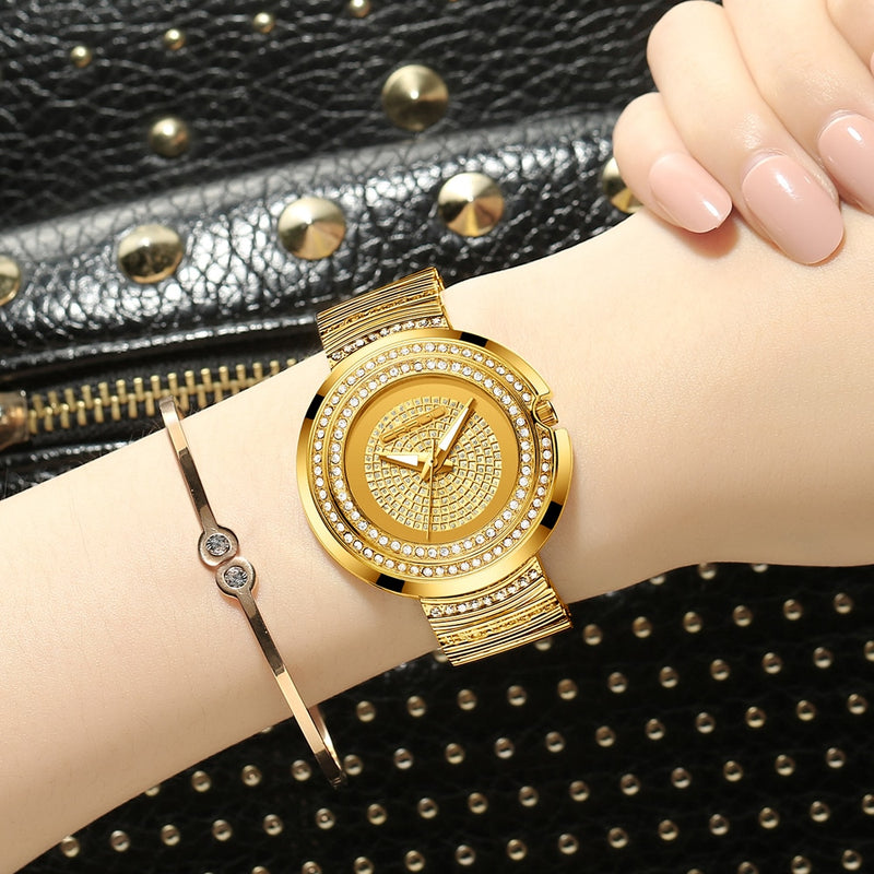 CRRJU Gold/Silver Watch -  | HERS.BOUTIQUE