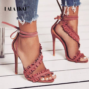 LALA IKAI Ankle Strap Sandals -  | HERS.BOUTIQUE
