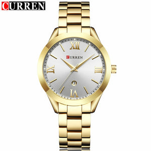 Curren Watches - gold white | HERS.BOUTIQUE