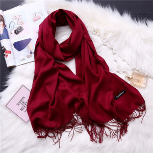 Pashmina Scarves - Maroon | HERS.BOUTIQUE
