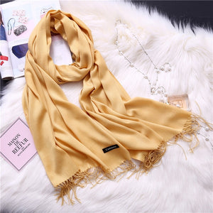 Pashmina Scarves - Gold | HERS.BOUTIQUE