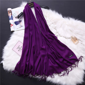Pashmina Scarves - purple | HERS.BOUTIQUE
