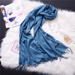 Pashmina Scarves - blue | HERS.BOUTIQUE