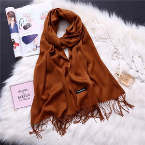 Pashmina Scarves - brown | HERS.BOUTIQUE