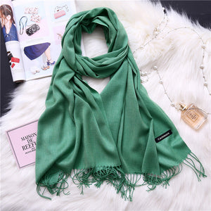 Pashmina Scarves - green 2 | HERS.BOUTIQUE